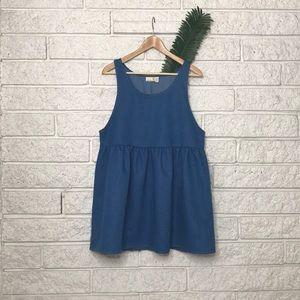 Urban Renewal Salvaged Denim Babydoll Dress